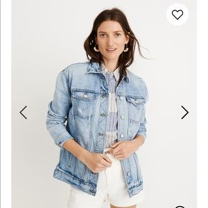 Madewell Oversized Jean Jacket Distressed XS
